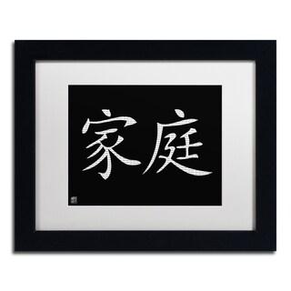 'Family - Horizontal Black' White Matte, Black Framed Wall Art