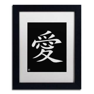'Love - Vertical Black' White Matte, Black Framed Wall Art