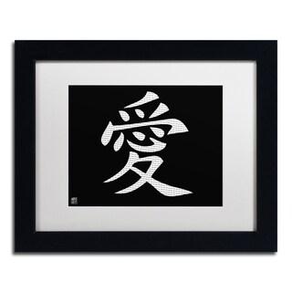 'Love - Horizontal Black' White Matte, Black Framed Wall Art