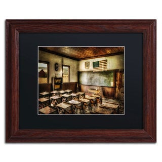 Lois Bryan 'One Room School' Black Matte, Wood Framed Wall Art