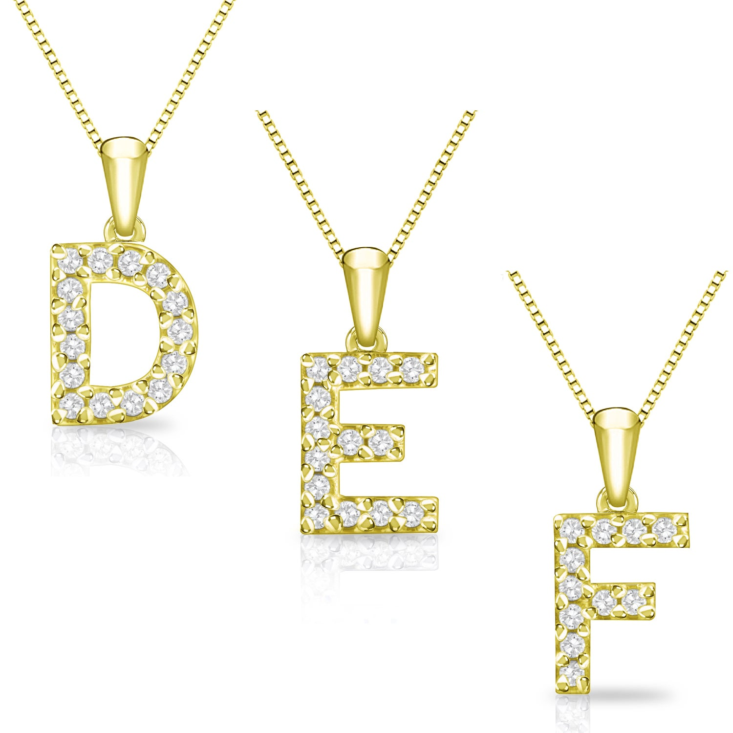 eed4d289b25 Shop 14k Yellow Gold 1 10ct TDW Diamond Accent Initial Necklace by Auriya -  On Sale - Free Shipping Today - Overstock - 10456686