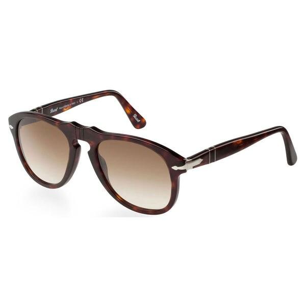 a0b24b8e84a1a Shop Persol Men s PO0649 Plastic Pilot Sunglasses - Tortoise - Large ...