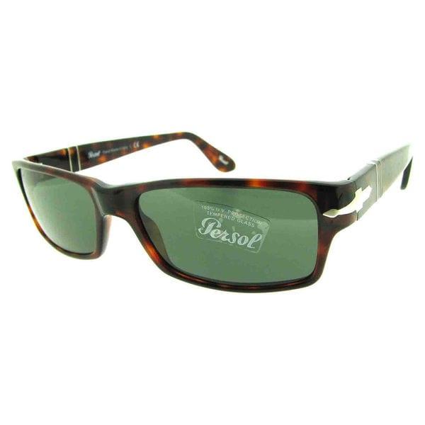 394a9b48be Persol Men  x27 s PO2747S Plastic Rectangle Sunglasses - Tortoise - Large