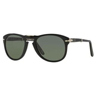Persol Men's PO0714 Plastic Pilot Polarized Sunglasses