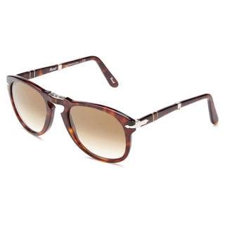 Persol Men's PO0714 Plastic Pilot Sunglasses