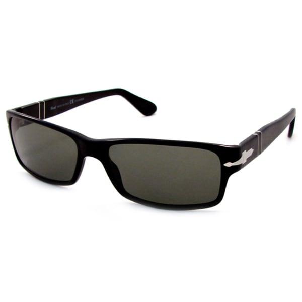 f4fe348b05 Persol Men  x27 s PO2747S Plastic Rectangle Polarized Sunglasses - Black -  Large