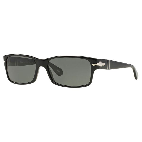 97585ab0a7 Persol Men  x27 s PO2803S Plastic Rectangle Polarized Sunglasses - Black -  Large