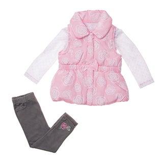 Kids Headquarters Infant Girl's 3-piece Vest and Pant Set