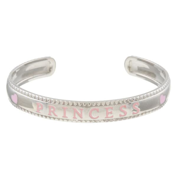 Sterling Essentials Silver 6 Inch Adjule Princess Baby Cuff Bracelet