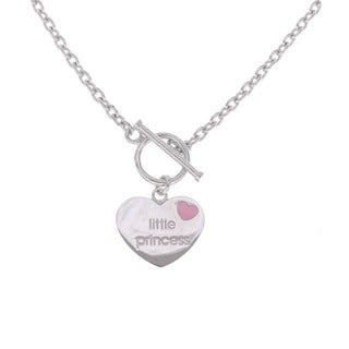 Sterling Silver Little Princess Toggle Necklace