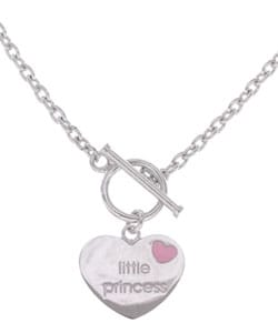 Sterling Essentials Sterling Silver Little Princess Toggle Necklace