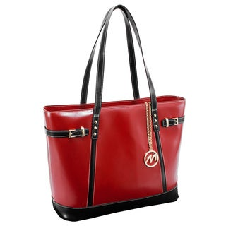McKlein USA Red Serafina Fashion Tablet Tote Bag