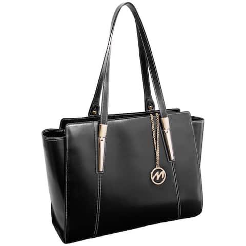 McKlein USA Black Aldora Fashion Tablet Tote Bag