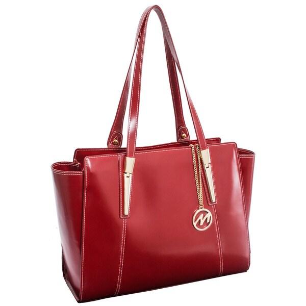 McKlein USA Red Aldora Fashion Tablet Tote Bag. Opens flyout.