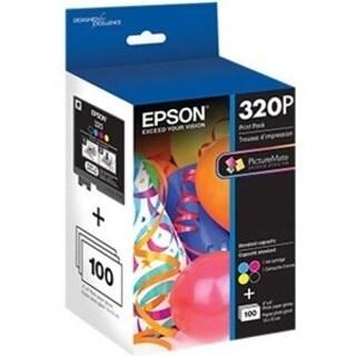 Epson T320P Original Ink Cartridge/Paper Kit - Black, Cyan, Magenta,