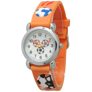 Olivia Pratt Kids' Soccer Watch with Silver Bezel