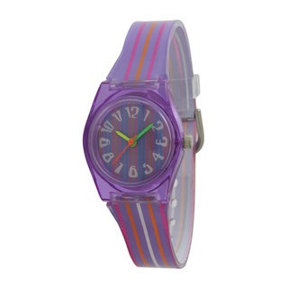 Olivia Pratt Kids' Colorful Translucent Watches