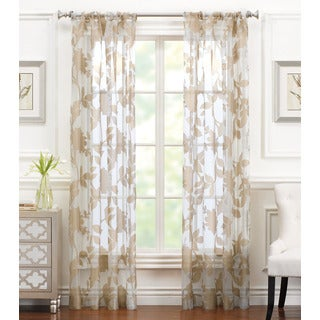 Brielle Aurora Sheer Rod Pocket Curtain Panel