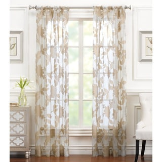 Brielle Aurora Sheer Rod Pocket Curtain Panel
