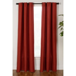 Dynasty 84-inch Faux Linen Curtain Panel