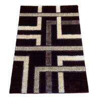 Rya Extra Plush 1060 Brown Area Rug - 5'3 x 7'3