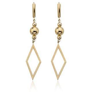 Vanguard 14k Yellow Gold Dangling Diamond-shape Earrings