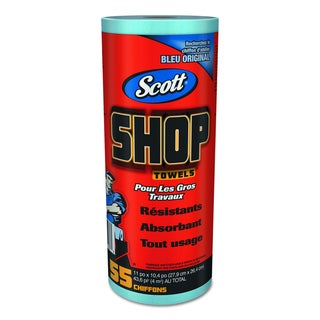 Scott Shop Blue Roll Towels (Pack of 12 Rolls)