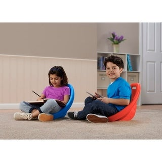 American Plastic Toys Scoop Rocking Chair in Assorted Colors (Pack of 6) - Blue/Red