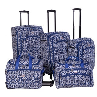American Flyer Aztec 5-piece Expandable Spinner Luggage Set