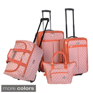 American Flyer Signature 4-piece Expandable Rolling Luggage Set