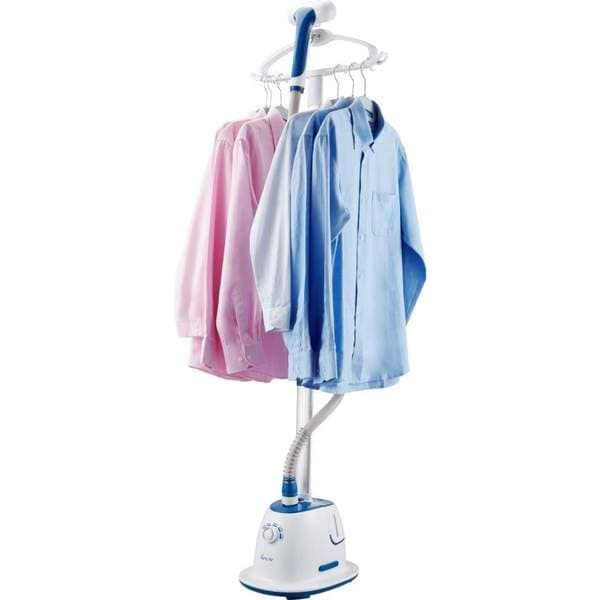 SALAV GS60-BJ Professional 1500-Watt, 4 steam Setting, Extra-wide Bar Blue Garment Steamer with 360 Swivel Hanger