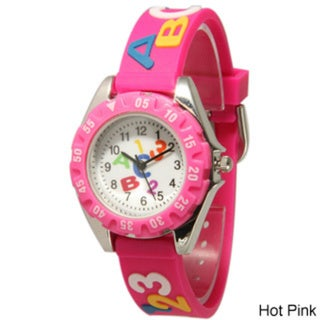 Olivia Pratt Children's ABCs and 123s Silicone Strap Watch
