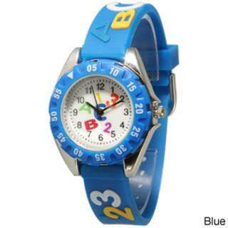 Olivia Pratt Children's ABCs and 123s Silicone Strap Watch