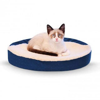 K and H Pet Products Ultra Memory Foam Oval Pet Cuddle Nest