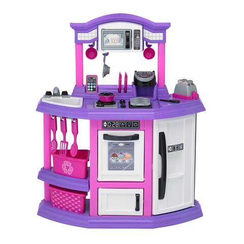 American Plastic Toys Baker's Kitchen Playset - Pink/Purple/White