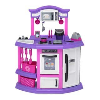 american plastic toys bakers kitchen pinkpurplewhite - Toy Kitchen