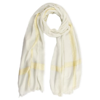 Saachi Women's Woven Striped Lurex Border Scarf (China)