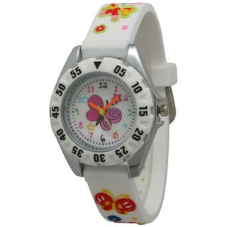 Olivia Pratt Children's Colorful Butterfly Watch