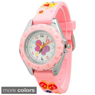 Olivia Pratt Children's Colorful Butterfly Watch|https://ak1.ostkcdn.com/images/products/10459076/P17550997.jpg?impolicy=medium