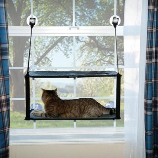 K and H Pet Products Kitty Sill Double Stack EZ Window Mount