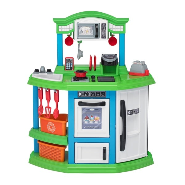 Shop American Plastic Toys Green Cozy Comfort Kitchen - Free ... on plastic toy guns, plastic toy food, plastic toy chests, plastic toy knives, plastic toy watches, plastic toy cutlery, toys r us kitchen sets, plastic toy cars, plastic toy puzzles, plastic toy animals, plastic toy storage, plastic tinker toys, toy food sets, plastic play food sets, plastic toy blocks, plastic play kitchen, plastic toy art, plastic toy utensils, plastic toy tools, plastic toy games,