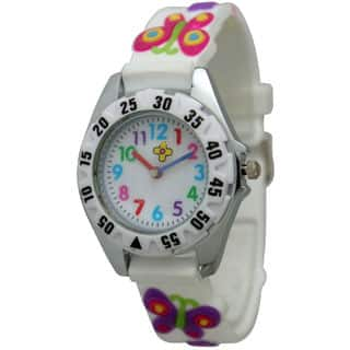 Olivia Pratt Children's Multi-colored Butterflies Watch (Option: White)|https://ak1.ostkcdn.com/images/products/10459128/P17551003.jpg?impolicy=medium