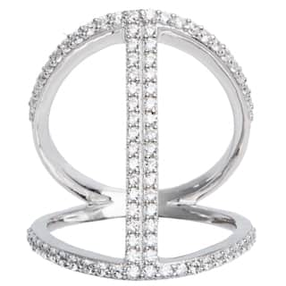 Sterling Silver Pave Cubic Zirconia Open Work Cage Style Ring https://ak1.ostkcdn.com/images/products/10459155/P17551016.jpg?impolicy=medium