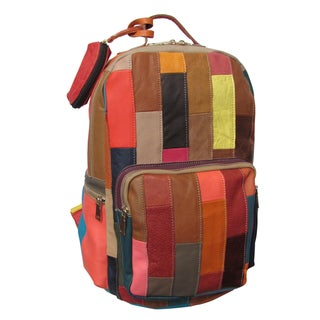 Amerileather Xanadu Rainbow Leather Backpack