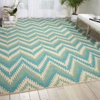 Barclay Butera Prism Pacific Area Rug by Nourison - 5'3 x 7'5