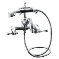 Kohler Revival Polished Chrome Diverter Spout Bath Faucet and Handshower