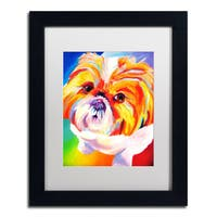 DawgArt 'Divot' White Matte, Black Framed Wall Art
