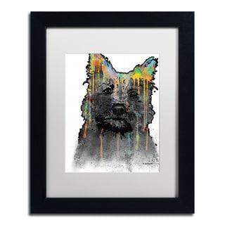 Marlene Watson 'Cairn Terrier' White Matte, Black Framed Wall Art
