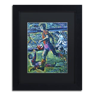 Lowell S.V. Devin 'World Cup Dream' Black Matte, Black Framed Wall Art