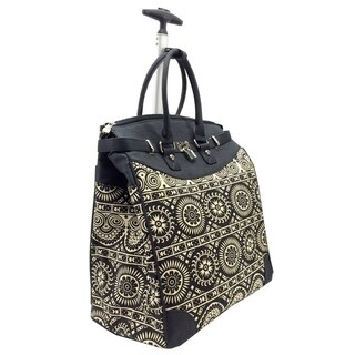 Aztec Classic Foldable Rolling Carry-on 14-inch Laptop/ Tablet Tote Bag